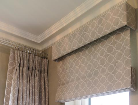 Upholstered pelmets and headboards
